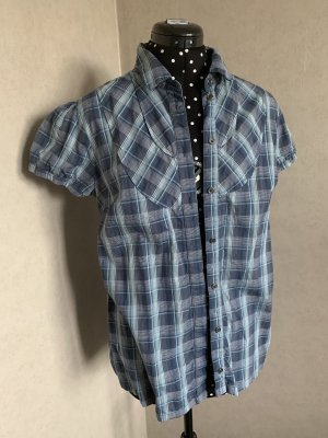 de.corp by Esprit Checked Blouse slate-gray-dark blue