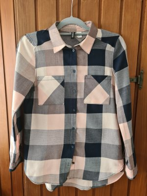 H&M Checked Blouse pink-blue