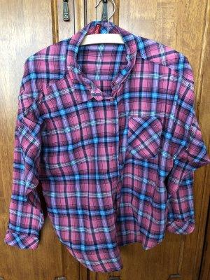 H&M Divided Lumberjack Shirt pink-light blue