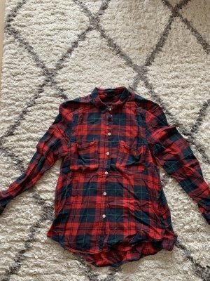 H&M Lumberjack Shirt black-dark red