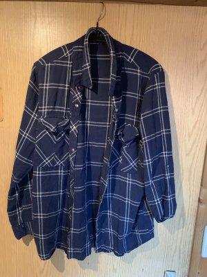 H&M Houthakkershemd zwart-blauw