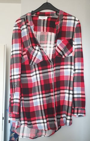 Gina Flannel Shirt black-dark red
