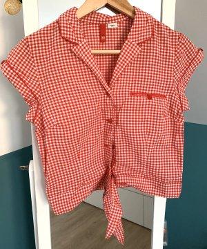 H&M Blouse à carreaux blanc-rouge