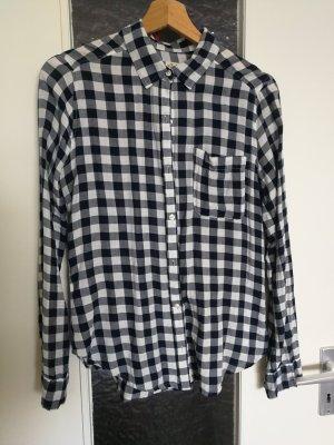 Hollister Koszula w kratę biały-ciemnoniebieski Bawełna
