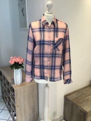 Mango Camicia a scacchi rosa chiaro-blu