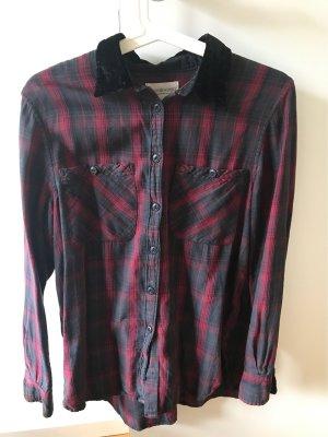 Denim & Supply Ralph Lauren Lumberjack Shirt dark blue-dark red cotton