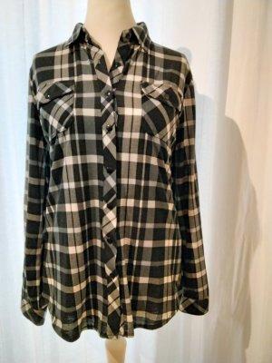 Aiki Camisa de manga larga blanco-negro