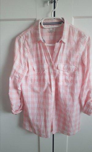 Collezione Camicia a maniche lunghe bianco-rosa chiaro