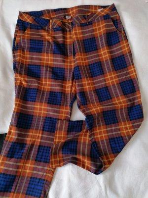Quiero Pantalon en laine orange fluo-bleu coton