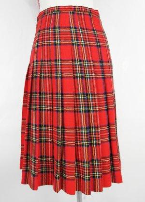Plaid Skirt red-black mixture fibre