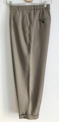 Zara Woman Pantalón de pinza alto marrón grisáceo lyocell
