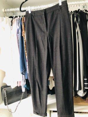 H&M Pantalon fuselé noir-gris