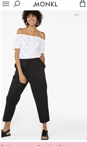 Monki Peg Top Trousers black