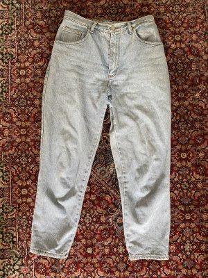Jeans a carota celeste