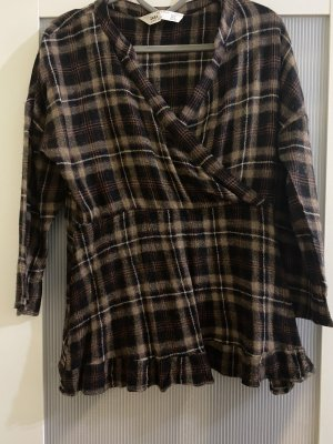 Zara Slip-over blouse veelkleurig