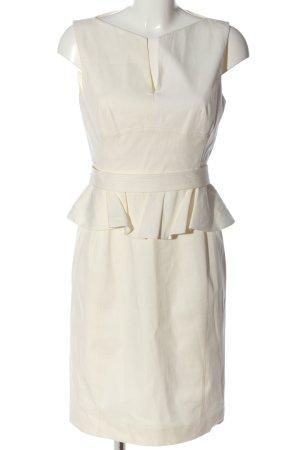 Karren Millen Sukienka z baskinką w kolorze białej wełny W stylu casual