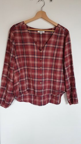 Madewell Checked Blouse multicolored