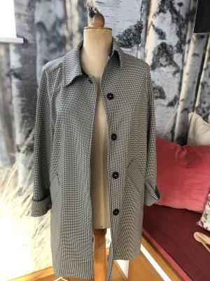 H&M Płaszcz oversize czarny-biały Poliester