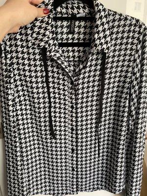 H&M Divided Camicia a scacchi nero-bianco