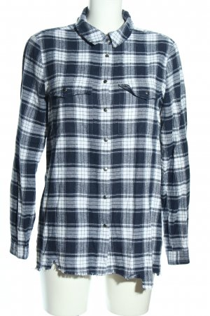 KARSSEN Flannel Shirt blue-white check pattern casual look