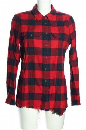 KARSSEN Flannel Shirt red-blue check pattern casual look