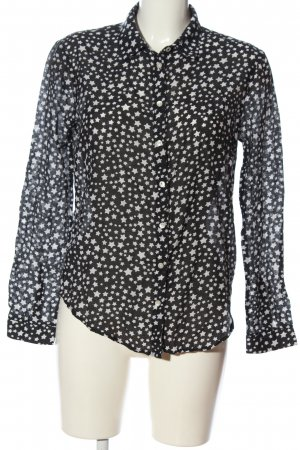 KARSSEN Shirt Blouse black-white allover print casual look