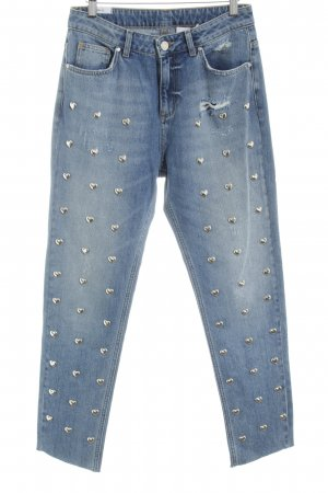 KARSSEN High Waist Jeans blau Casual-Look