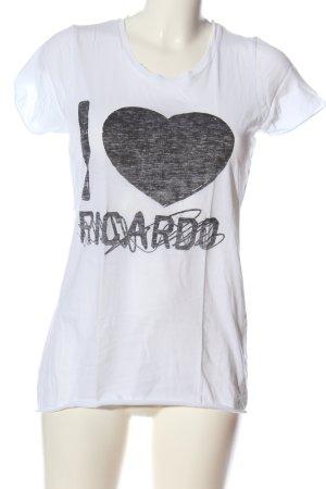 KARSSEN Print-Shirt weiß-schwarz Motivdruck Casual-Look