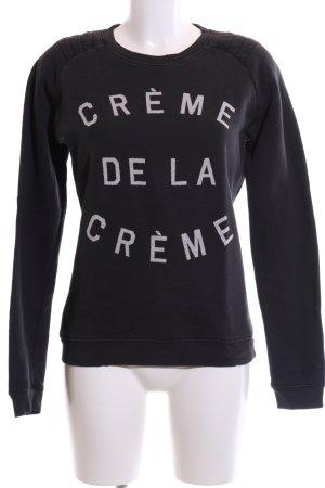 KARSSEN Sweatshirt schwarz-weiß Schriftzug gedruckt Casual-Look