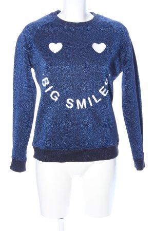 KARSSEN Sweatshirt blau meliert Casual-Look