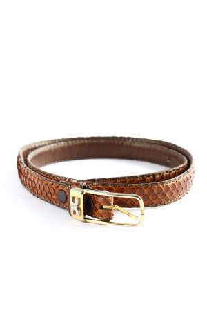 Karstadt Faux Leather Belt brown animal pattern business style