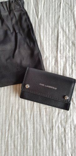 Karl Lagerfeld Card Case black-silver-colored