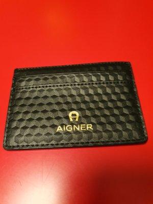 Aigner Tarjetero negro-color oro