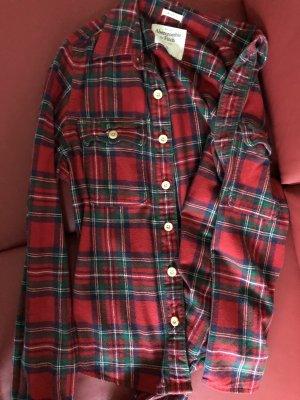 Abercrombie & Fitch Marynarka koszulowa ciemnoczerwony