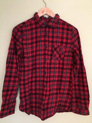 Takko Koszula w kratę czarny-czerwony