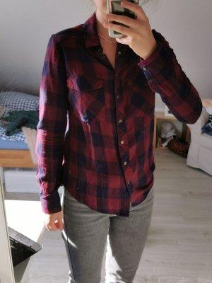 Pimkie Camicia blusa rosso scuro-blu scuro