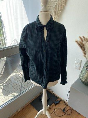 Camicia da boscaiolo verde scuro-nero