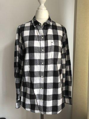 Zara Flannel Shirt black-white
