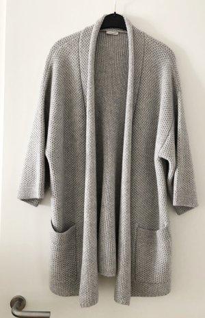 iheart Manteau en tricot argenté-gris clair cachemire
