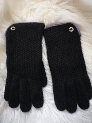 Coach Gebreide handschoenen zwart-paars