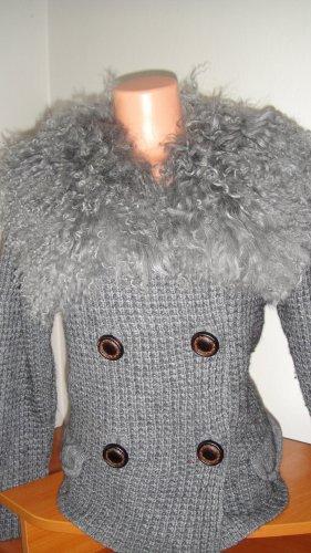 Autumn cashmere Wełniany sweter ciemnoszary-szary Wełna z alpaki