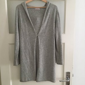 Knitted Coat silver-colored cashmere