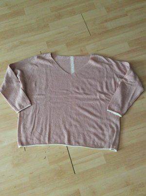 Cashmere Jumper natural white-dusky pink