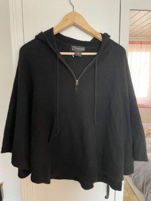 C by Bloomingdale's Poncho negro Cachemir
