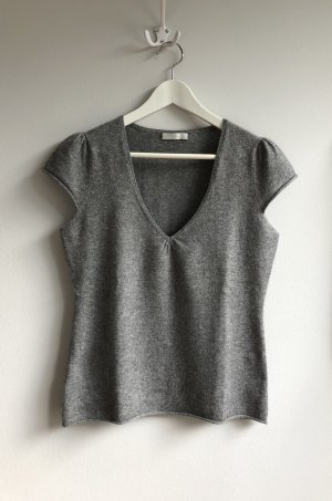 Promod Short Sleeve Sweater grey-light grey cashmere