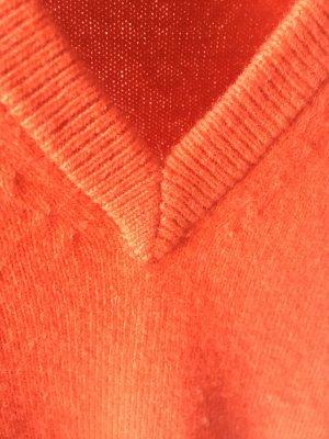 Eric Bompard Pull en cashemire orange fluo cachemire