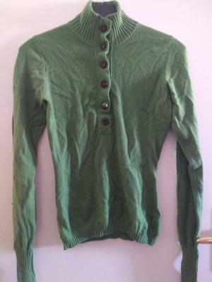 Pullover in cashmere verde-verde bosco