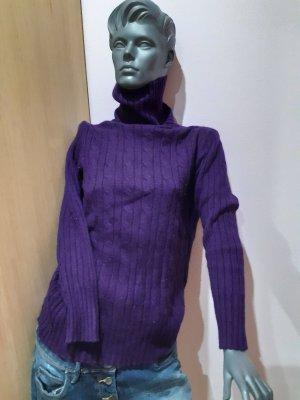 Cashmere Jumper dark violet angora wool