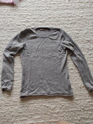 Kaschmir Pullover Cashmere Crewneck Kuschelpulli grau Sweater