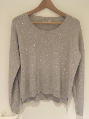 S.Marlon Knitted Sweater light grey-grey cashmere